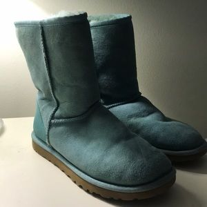Teal UGG Boots (worn once) Size 6